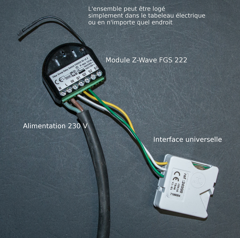 Montage domotique z-wave avec interface universelle bubendorff